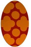 rug #497021 | oval red rug