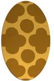 rug #497081 | oval light-orange rug