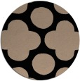 rug #497493 | round black rug