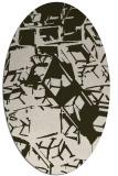 rug #500473 | oval abstract rug