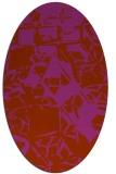 rug #500551 | oval abstract rug
