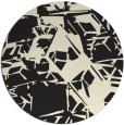 rug #501309 | round black abstract rug