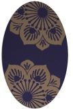 rug #502165 | oval blue-violet rug
