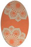 rug #502253 | oval orange rug