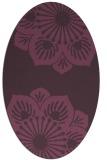 rug #502281 | oval purple rug
