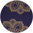 rug #502869 | round blue-violet rug