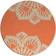 rug #502957 | round orange rug