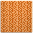 rug #505485 | square red-orange rug