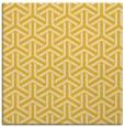 rug #505513   square yellow rug