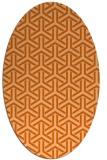 rug #505837 | oval red-orange rug