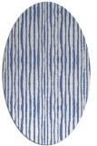 rug #507377   oval blue rug
