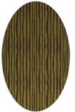 rug #507565 | oval green rug