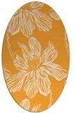 rug #509445 | oval light-orange rug