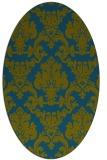 rug #514437 | oval green rug