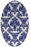 rug #514657   oval blue rug