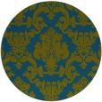 rug #515141 | round green rug