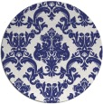 rug #515361 | round blue rug