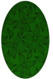rug #516205 | oval green rug
