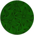 rug #516909 | round green rug