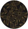 rug #516957 | round black rug