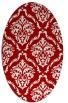 rug #518137 | oval damask rug