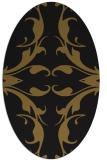 rug #519773 | oval mid-brown rug