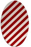 rug #521657 | oval red rug