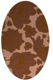 rug #528601 | oval mid-brown rug