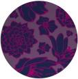 rug #529189 | round blue rug