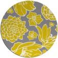 rug #529461 | round yellow rug