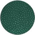 rug #536333 | round blue-green rug