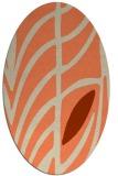 rug #539213 | oval orange rug