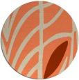 rug #539917 | round orange rug