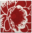 rug #540673 | square red rug