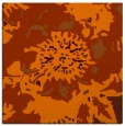 rug #549481 | square red-orange rug