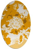rug #549913 | oval light-orange rug