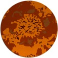 rug #550537 | round red-orange rug
