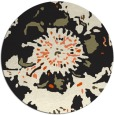 rug #550589 | round black abstract rug