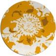 rug #550617 | round light-orange rug