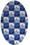 rug #551377   oval blue rug