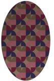 rug #551446 | oval circles rug