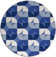 rug #552081 | round blue rug