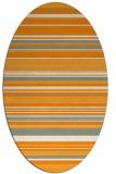 rug #556961 | oval light-orange rug