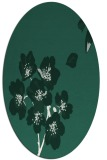 rug #560269 | oval blue-green rug