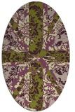 rug #562059 | oval damask rug