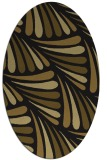 rug #572573 | oval mid-brown rug