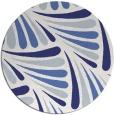 rug #573441 | round blue rug