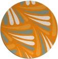 rug #573505 | round light-orange rug