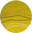 rug #576981 | round yellow rug