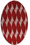 rug #586786 | oval graphic rug